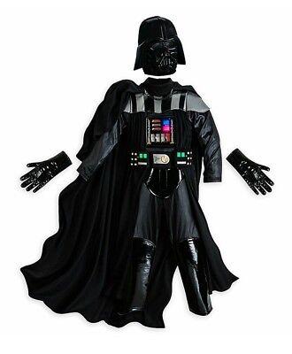 Disney Store Boys Star Wars Darth Vader Sith Dark Lord Light Up Costume Sz 13