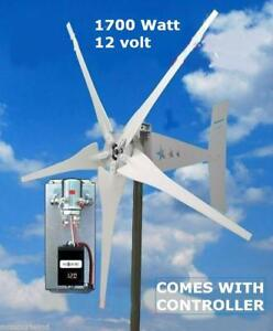 1700 Watt 12 volt Wind Turbine - FREE SHIPPING