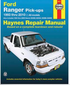 Haynes Repair manual 1993 -2010 Ranger