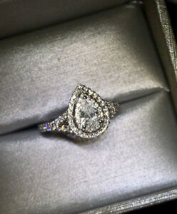 Exquisite Pear Shaped Diamond Engagement Ring
