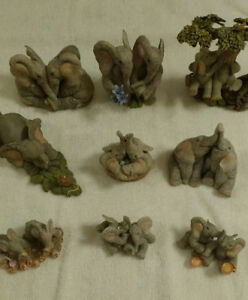 9 TUSKERS ELEPHANT FIGURINES