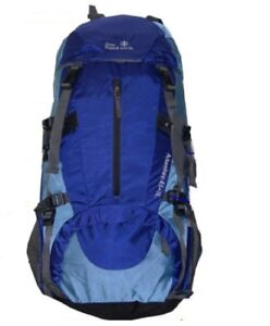 45L+5L Hiking Packs backpack Blue Orange