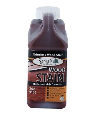 Interior Water Based Wood Stain - Saman 5950651 Interior Water Based Wood Stain, Spice, 32 Oz