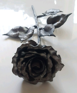 Hand-forged Wrought Iron Metal Rose