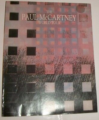Paul McCartney World Tour 1989 Program Magazine 99 pages
