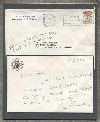 George H W  Bush   Autograph Letter Signed 05 27 1986