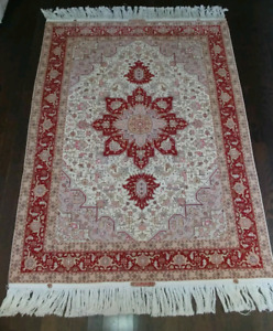 Heris Persian Rug (Hand-Knotted SILK + Wool)