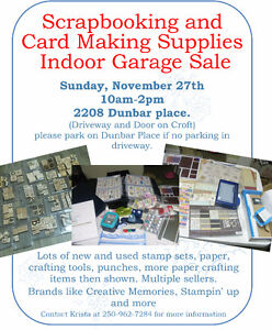 Scrapbook and card making supplies garage sale Prince George British Columbia image 1