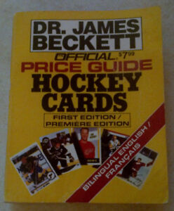 Dr Beckett Hockey Card Price guide 1st Edition - 1991