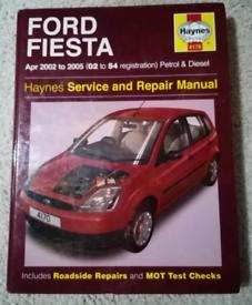 Ford Fiesta Apr 2002 to 2005 Haynes Service Manuel