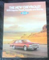 1978 Chevrolet caprice Classic, Impala, Bel Air car Brochure