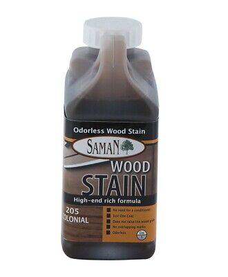 Interior Water Based Wood Stain - Saman 5950627 Interior Water Based Wood Stain, Colonial, 32 Oz