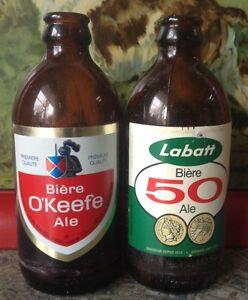 ancienne bouteille de bière des années 1950