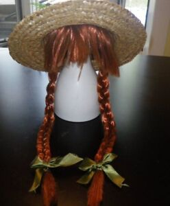 anne of green gables hat with wig never worn