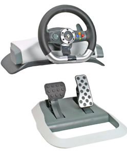 X box 360 wheel with pedals