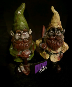 Hand painted zombie gnomes