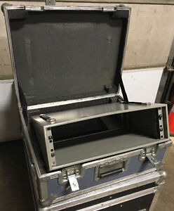 Used rack with road case