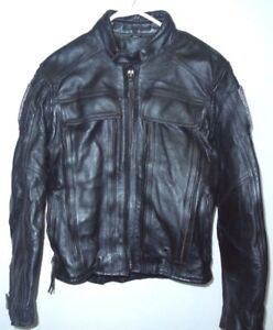 Leather Armoured Motorcycle Jacket - price reduced