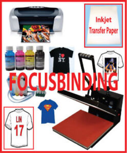 New 15x15 Heat Press,Epson Printer,CISS,PU Vinyl Heat Transfer