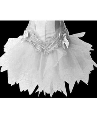 Sexy Women's White Petticoat Ideal with a Corset Tutu Fancy Dress Costume