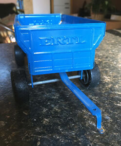 Vintage Blue ERTL Model Tractor and Hay Trailer HELP REQUEST