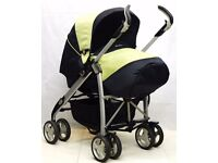 Silver Cross 3D Complete Pram and Pushchair - Lime