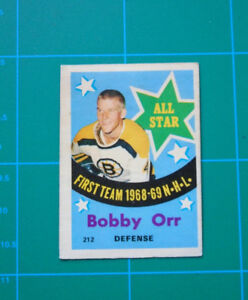 Bobby Orr vintage hockey card 1969