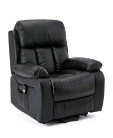 Black Electric Recliner+Riser with heat&Massage Armchair free local de