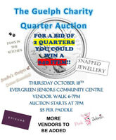 The Auction where a bid of 2 quarters could win you a $40 item!