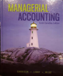 Managerial Accounting book for sale.