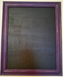 Chalkboard with Purple Distressed Frame