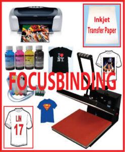 New 15x15 Heat Press,Epson Printer,CISS,PU Vinyl Heat Transfer
