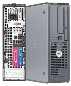Mini Boitier d' Ordinateur Dell Optiplex 755 Core2 Duo Win7 $100