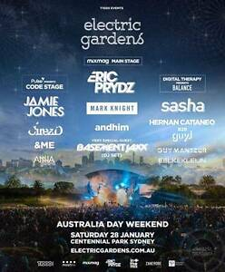 ELECTRIC GARDENS SYDNEY Two Tickets Sydney City Inner Sydney Preview