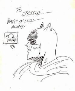 1990-BOB-KANE-original-art-BATMAN-sketch-signed-dated-inscribed