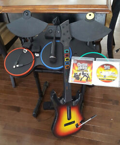 Guitar Hero World Tour for PS3 complete band kit.