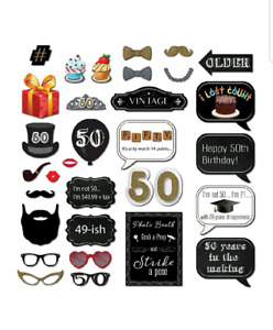 New. Birthday / 50th, photo booth props