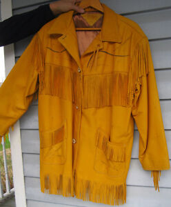 AUTHENTIC FIRST NATION BUCKSKIN JACKET