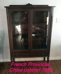 1800 French Provincial China Cabinet