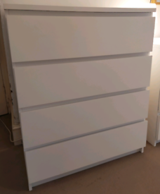 IKEA Malm, Chest of 4 drawers, 80x100cm