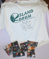 COLLECTION OF DRUMMERS AUTOGRAPHED T SHIRTS