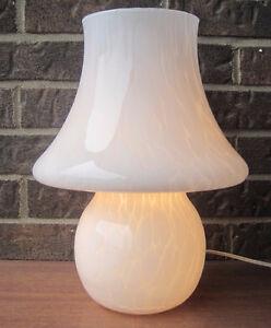 VINTAGE MURANO SPLATTER GLASS MUSHROOM LAMP