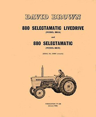 880 A B David Brown Case Tractor Parts Catalog Manual