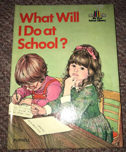 "Vintage 1978 ""What Will I Do At School"" book Purnell Clean Copy"