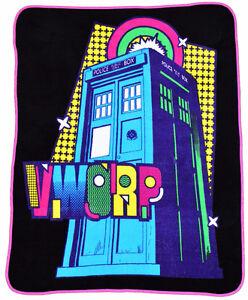 New- BBC Licensed- Pop Art- Doctor Who Tardis- Throw/Blanket Sarnia Sarnia Area image 1