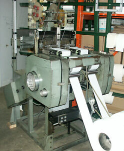 Muller NC 2/110 needle loom and creel, narrow weaving machine &