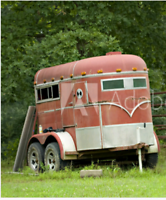 ISO of a horse trailer.