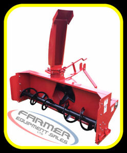"NEW 3 point hitch SNOW BLOWERS, 50""- 80"" sizes,---- IN STOCK NOW"