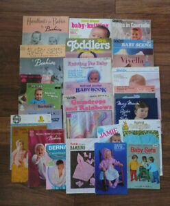 Large LOT Baby KNIT CROCHET Patterns Some OLD Beehive Books