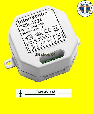 CMR-1224 INTERTECHNO Funkschalter EIN/AUS-Schalter für 12 + 24 V/DC max.180 Watt